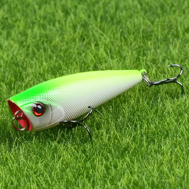 Special Price Hot Sale 1pcs Hard Poper Fishing Lures 6cm/7g Topwater Fishing Bait 6# Treble Hooks Fishing Tackle