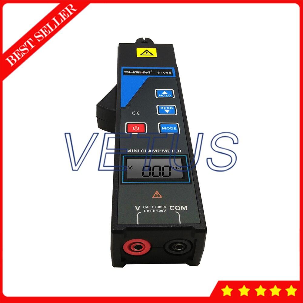 Mini Morsetto Corrente di dispersione tester del Tester Amperometro rilevatore di Frequenza AC Tester di Tensione Volt gamma di tensione 0.00V a 600V S108B - 4