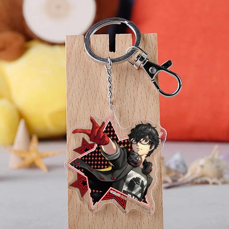 Gioco Persona 5 Keychain Del Fumetto Figura Akira Kurusu Anne Takamaki Double Sided Acrilico Portachiavi