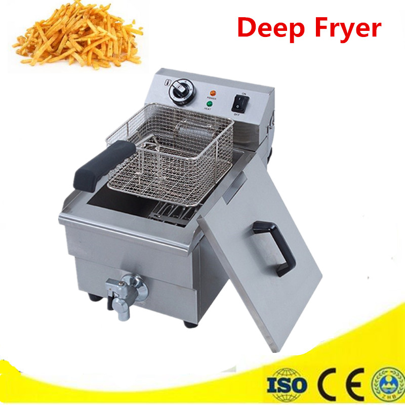 Household  Electric Fryer 10L Large Capacity  with Temperature Control  Deep Fryer Chicken French Fries Machine home healthy non stick electric deep fryer smokeless electric air fryer french fries machine for home using af 100 1pc