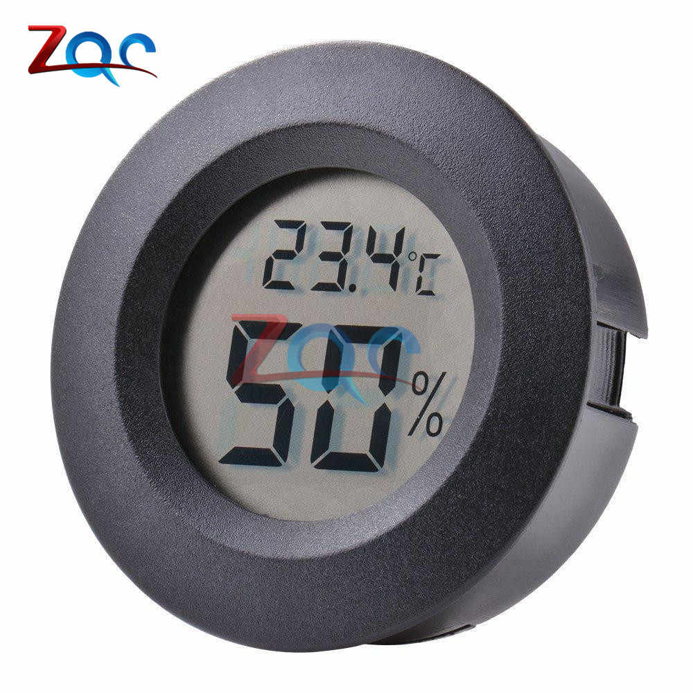 Mini LCD Digital Thermometer Hygrometer Fridge Freezer Temperature Sensor Humidity Meter Detector Indoor Gauge Instruments