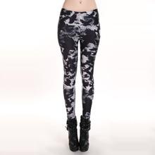 NEW 3117 sexy girl women Ghost Black crow Death Bird 3D prints polyester elastic fitness Women leggings pants Plus size