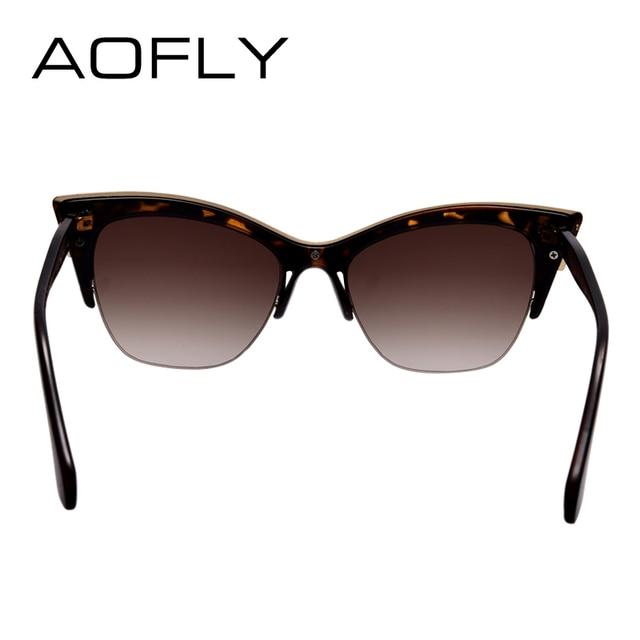 AOFLY Fashion Cat Eye Sunglasses Women Brand Designer vintage sun glasses Women Fashion Eyeglasses high quality eyewear oculos 4