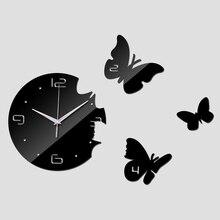 2016 heißer verkauf acryl wanduhr spiegel quarzuhr moderne design luxus 3d uhren wohnzimmer Abstrakte reloj de pared