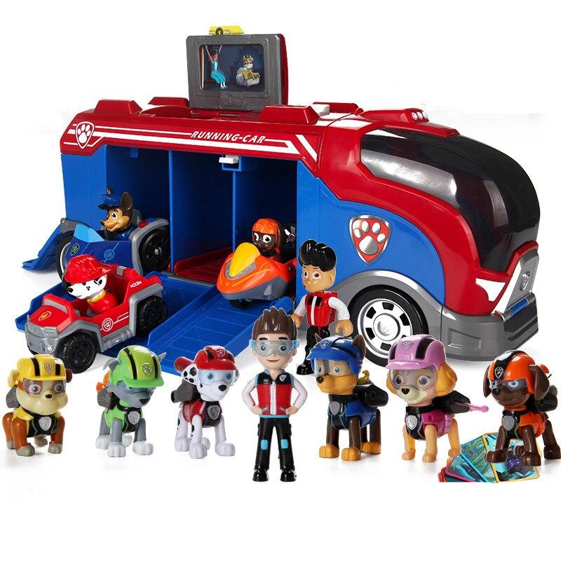 Pat' patrouille chien patrulla canina jouets Anime Figurine voiture en plastique jouet Action Figure modèle enfants jouets cadeaux de noël