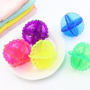 Image 4 - 5X 抗ワインディング洗濯ボール洗濯機クリーナー固体クリーニングドライヤー超強力除染洗濯ボール