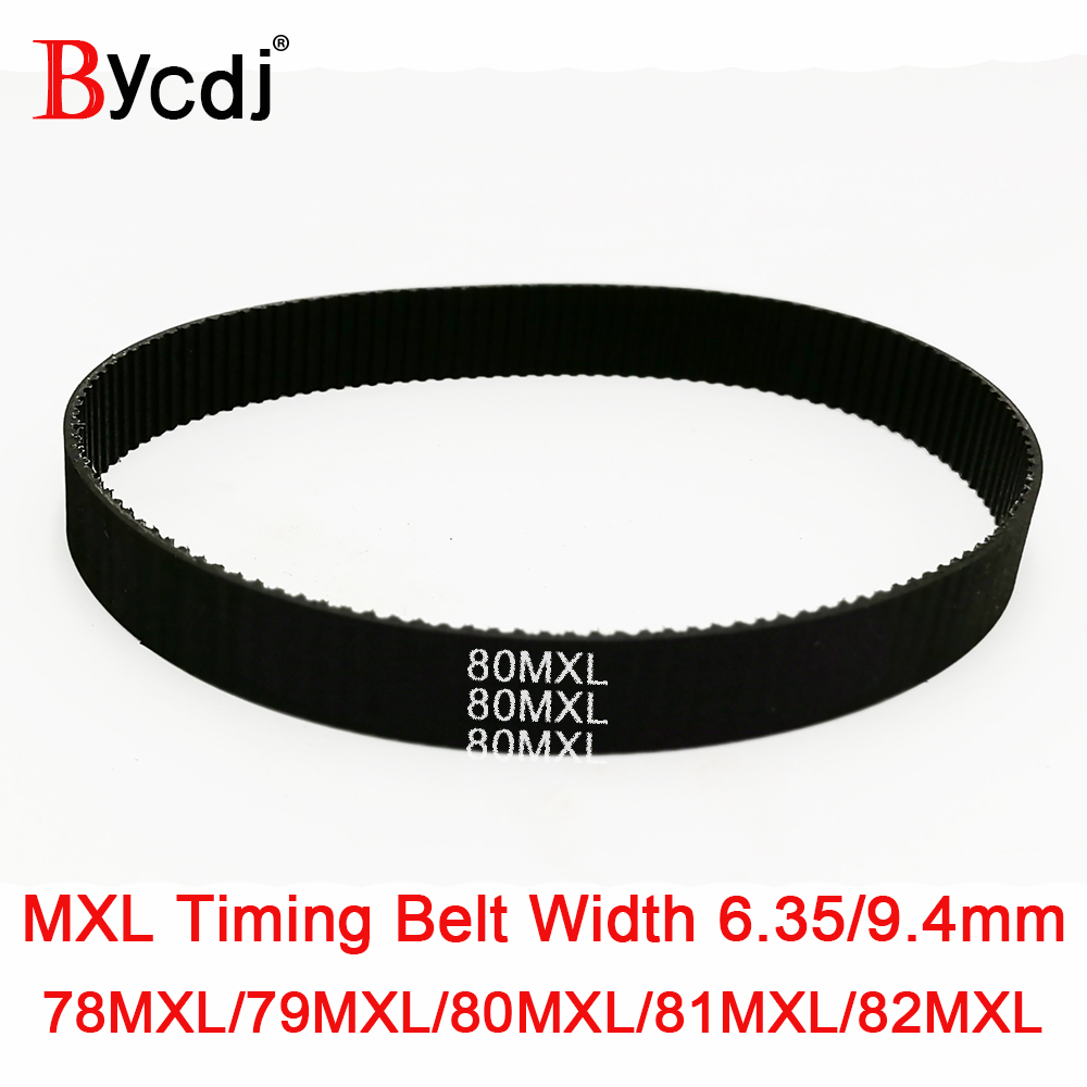 B103 MXL Rubber Pulley Timing Belt 10mm Width Close Loop Synchronous Belt B103 10mm width, 82MXL