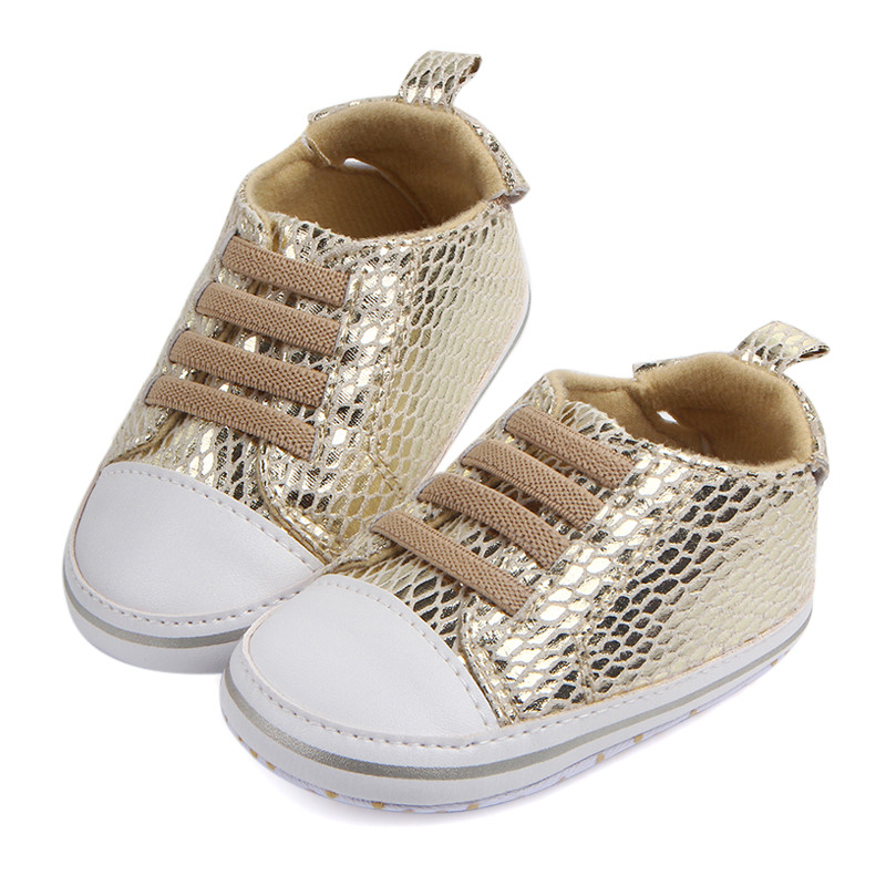 Baby Crib Shoe Fashion Trainers Elastic Band Infant Girls