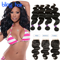 Queen Malaysian Body Wave 4 Bundles With Closure Unprocessed Malaysian Virgin Hair Body Wave Tissage Malaysian 8A Avec Closure