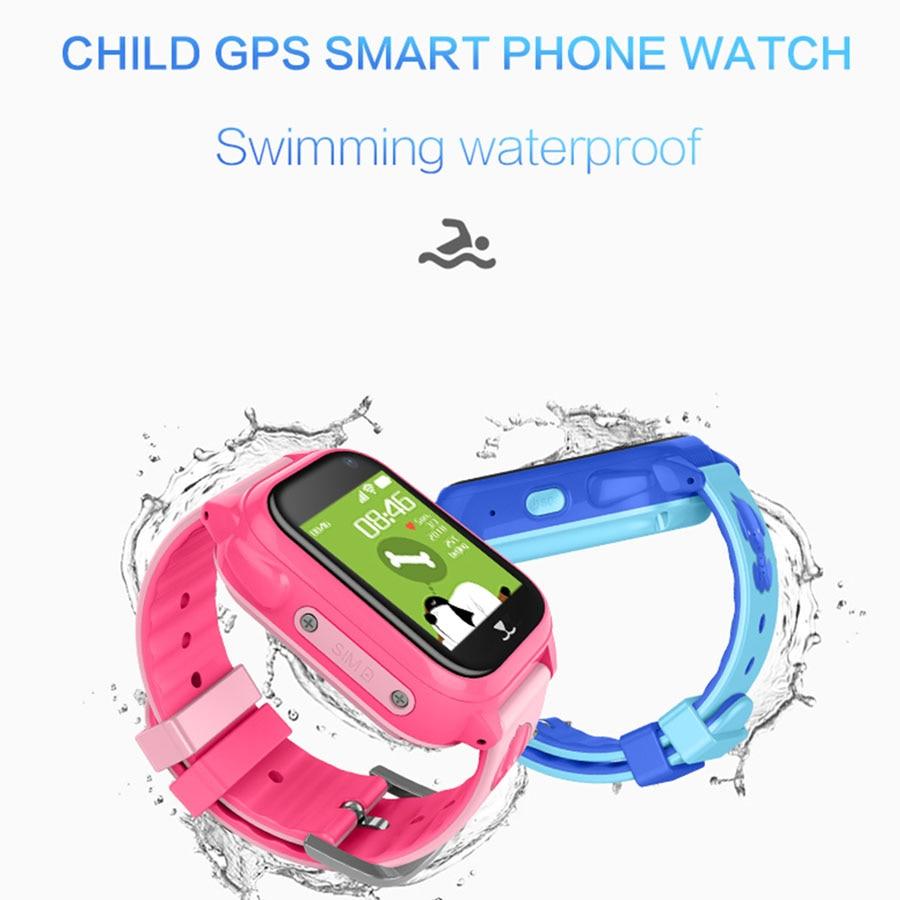 Montres enfants avec GPS Tracker enfants Sport Smartwatch étanche natation montre intelligente pour Android IOS montre enfant pour garçons filles