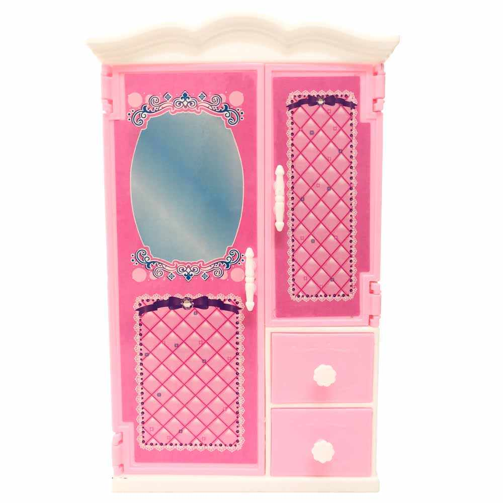Nk 1 Pcs Doll Accessories Pink Wardrobe Closet For Barbie Doll Dreamhouse Furniture Miniature Gift Child Bedroom Toys Dolls Accessories Aliexpress