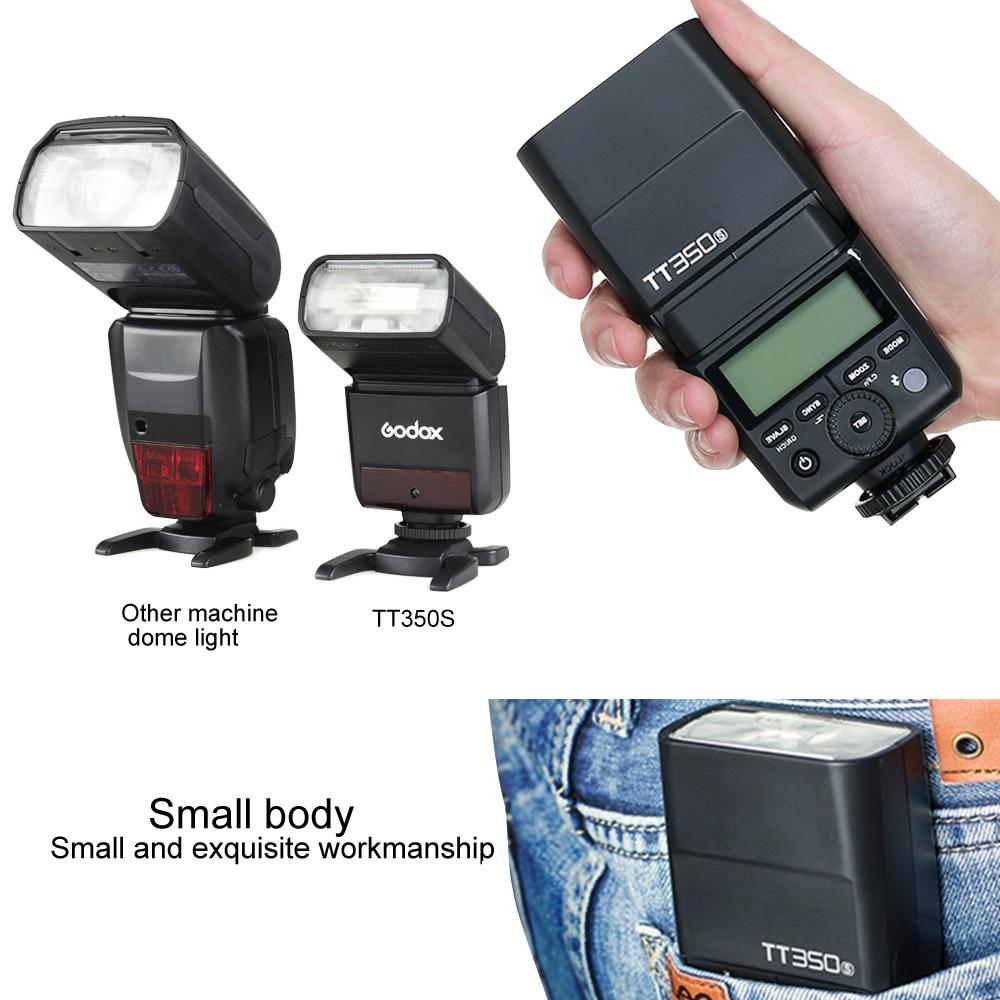 Godox Mini Speedlite TT350S TT350N TT350C TT350O Camera Flash TTL HSS voor Sony Mirrorless DSLR Camera A7s A6000 A6500 Serie - 6