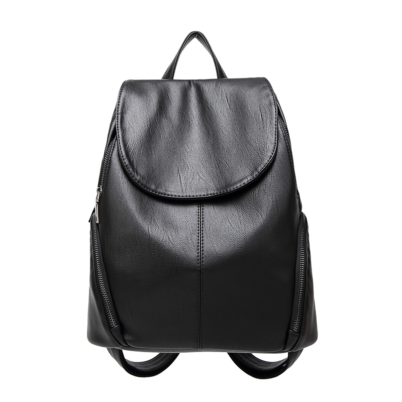 Fashion Women Backpack School Bags For Teenagers Girls Preppy Style PU Leather Bag Zipper Female Backpacks 2017 new fashion backpacks men travel backpack women school bags for teenagers girls pu leather preppy style backpack