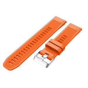 Image 5 - ספורט סיליקון רצועת השעון Wriststrap עבור Garmin Fenix 6X 6 6S פרו 5X 5 5S בתוספת 3 3HR 20 22 26mm קל Fit מהיר שחרור wirstband