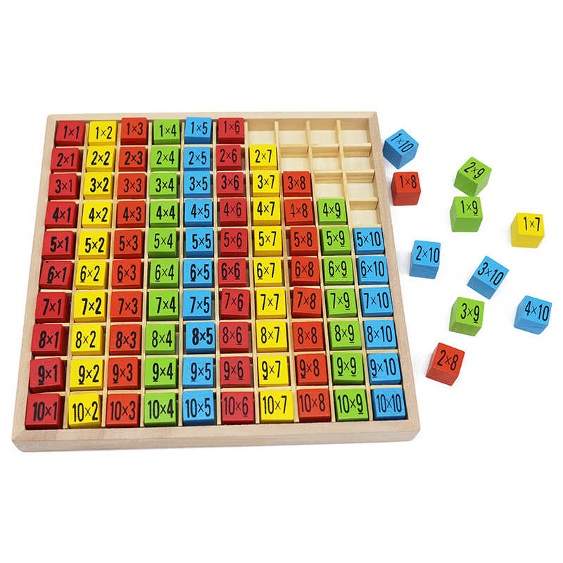 Juguetes para bebés de madera bloque de tabla de tiempos de - Educación y entrenamiento - foto 2