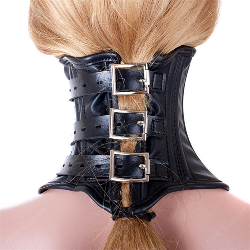 Excellent fetish neck brace corset