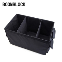 BOOMBLOCK Universal Car Styling 3 Rooms With Covers Trunk Waterproof Foldable Capacity Vehicle Storage Box organizer Accessories