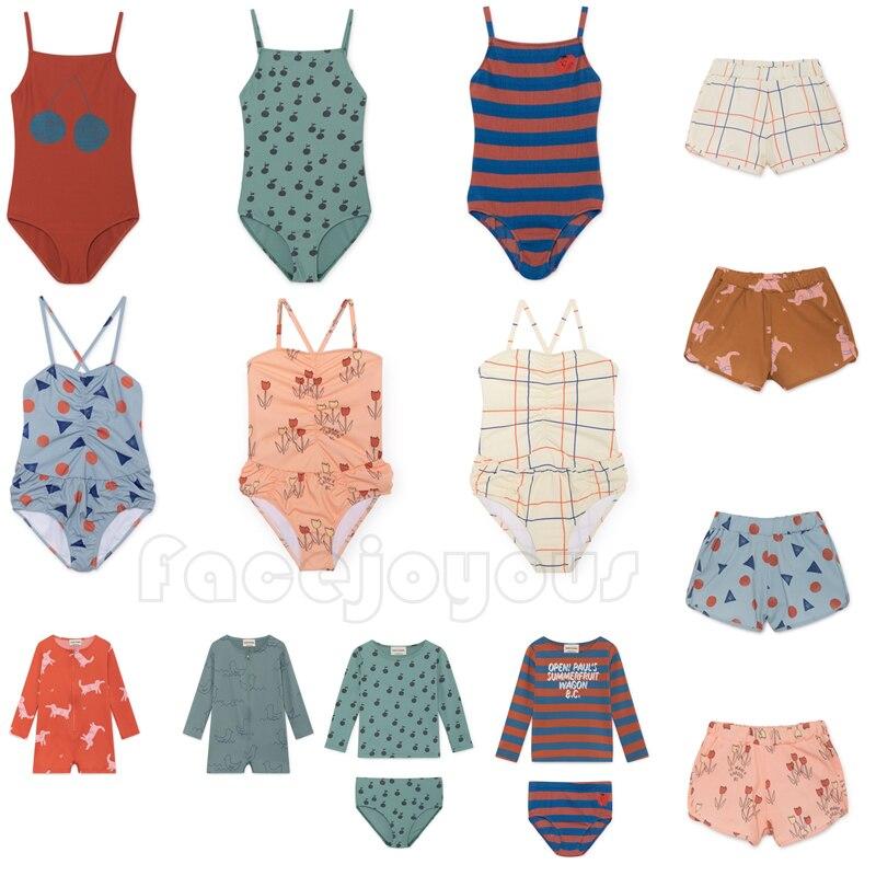 Kids Swimwear 2019 Summer Baby Girls Bikini Apples Cherry Swimsuit Children Boys Swim Shorts Overalls Swimming clth Футболка