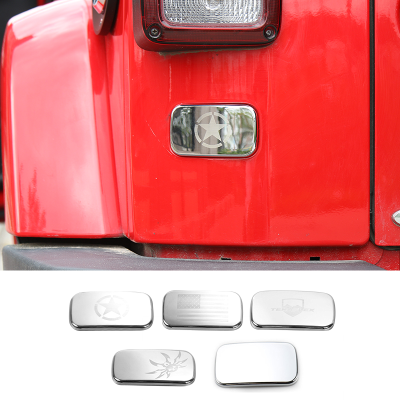 MOPAI ABS Car Exterior Under Left Tail Light Cover Rear Protect Decoration Stickers For Jeep Wrangler 2007 Up Car Styling mopai new arrival car exterior rear triangle glass decoration cover stickers for jeep compass 2017 up car styling