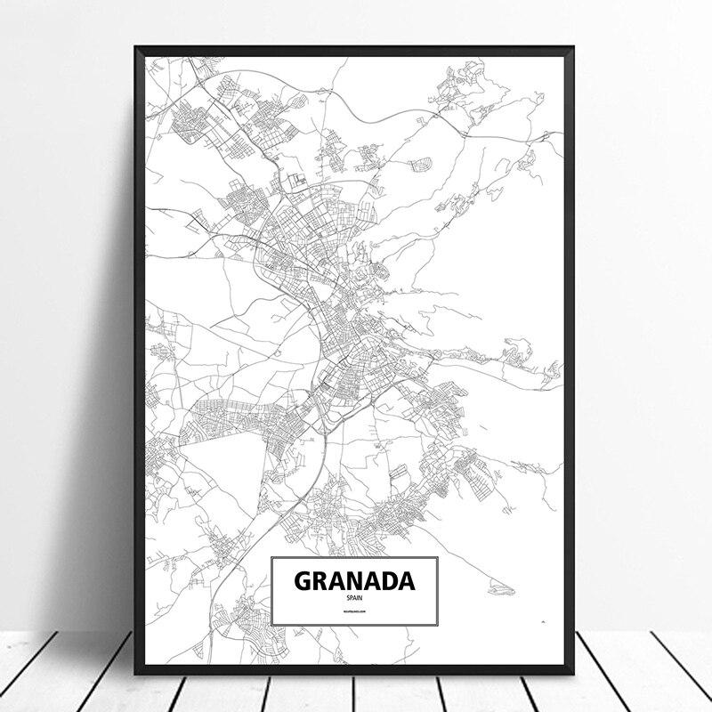 City Granada Spain Map