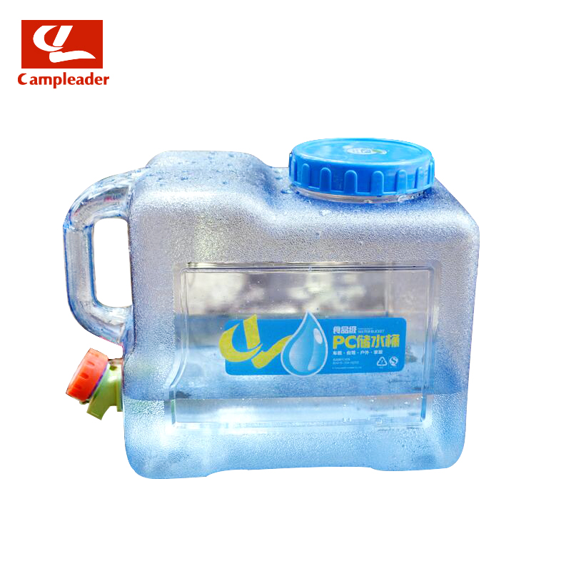 Campleader 8L Water Bottle Container Camping Hiking Picnic Handy Collapsible Outdoor Camping Car Durable PC Water Bucket CL131