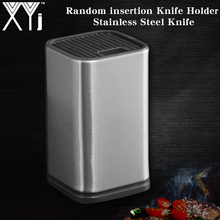 XYj New Kitchen Knife Holder Storage Stainless Steel Block Stand for Knives Large Capacity Multifunctional Seat