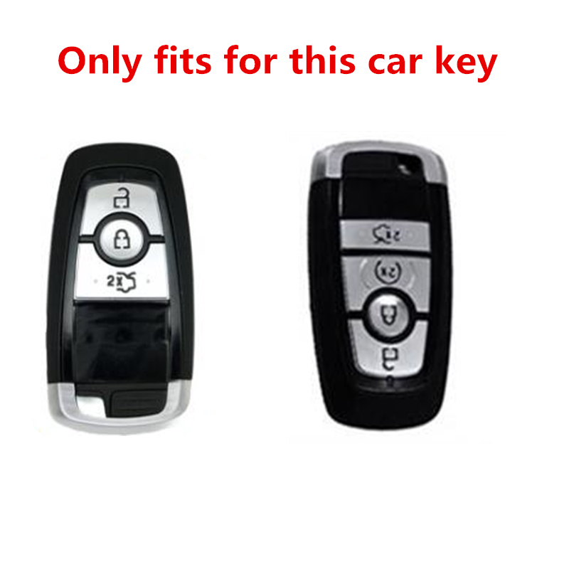 TPU Pink Remote Smart Key Fob Shell Case Cover For Ford Mondeo Edge EcoSport