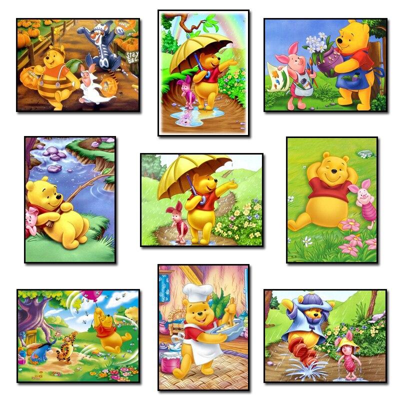 Winnie Pooh y amigos 5d diamante mosaico Cuadros de punto de cruz ...