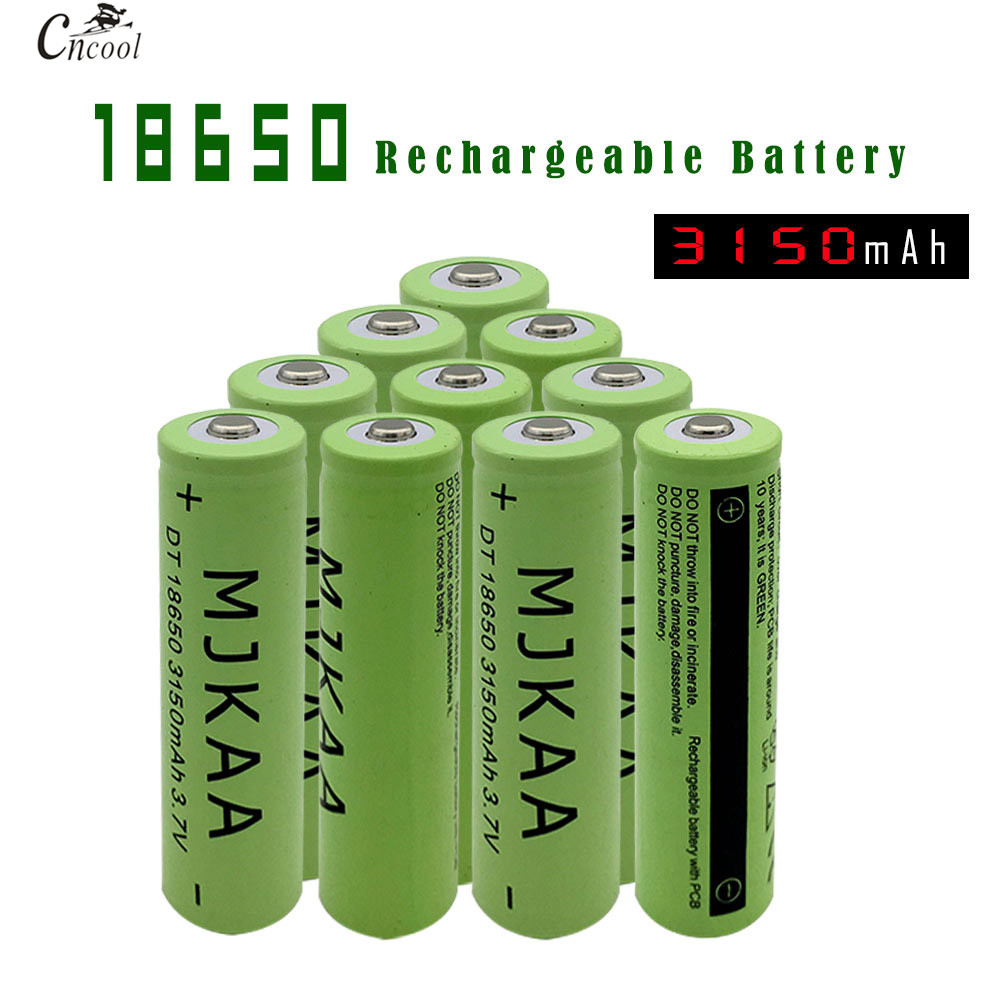 Flashlight Headlamp Batteries,10x 18650 Battery Li-ion 3.7 V 9900mAh Rechargeable Batteries