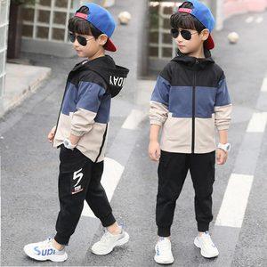 Image 4 - Комплект повседневной одежды для мальчиков, кофта с капюшоном + штаны, 4, 6, 8, 10, 12, 14, 15 лет, 2019