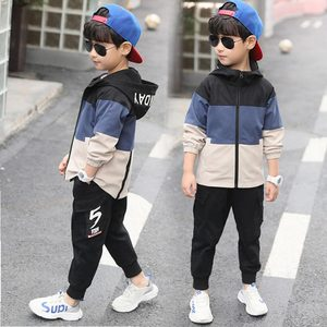 Image 4 - 2019 New Kids Boys Clothing Set Children Tops Hoodie Jackets + Pants Set 4 6 8 10 12 14 15 Years Kids Clothes Boy Casual Suits