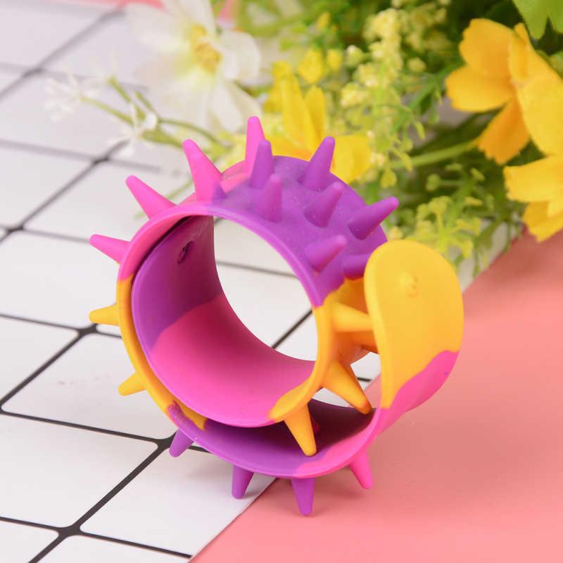 Spiky Slap Браслет Силиконовый Спайк Непоседа браслеты офисные школьные классные сенсорные Классические игрушки антистресс для детей аутизм