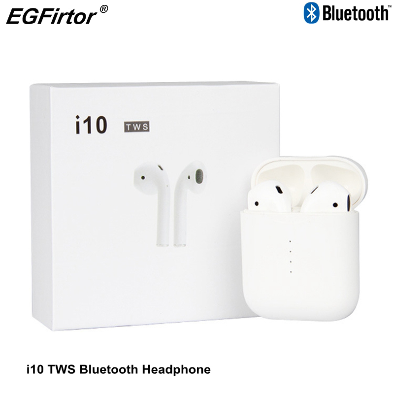 i10 TWS Bluetooth Headphone Wireless Bluetooth HeadSet Rechargeable Earbuds Support Touch Control Wireless Binaural Calling