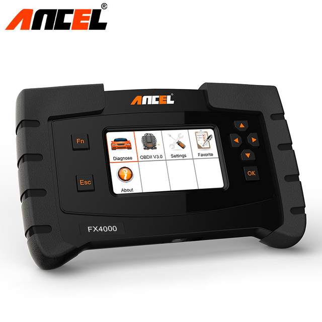 New Price Ancel FX4000 OBD2 Car Diagnosis Machine OBD2 Automotive Scanner Transmission ABS Airbag SAS EPB ODB2 Auto Diagnostic Scanner