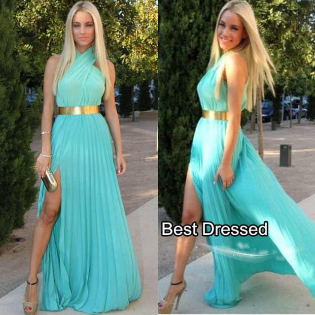 Turquoise Summer Dress
