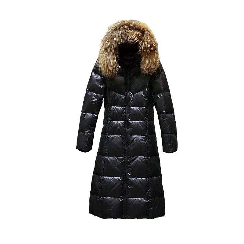 Parkas Feminina Jaqueta Black Gris Fourrure De Duvet Longue Canard C3637 Laveur Noir Manteau Femmes Collier Raton Inverno Épais Veste D'hiver 4dSwqad
