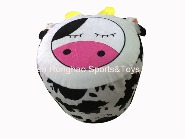 Inflatable Chair Stool With Footstool Cow Design For Kids Perfect Indoor And Outdoor Use Seats Free Inflator