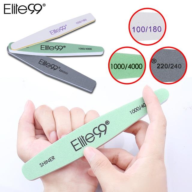 Elite99 Nagel Dateien 100 180 Papersand Schaum 220 240 Nail art Puffer Schleifen Polieren Maniküre 100 0 4000 Mini Nagel datei zu Polieren