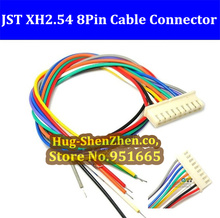 Hot sale 200pcs JST XH2.54 8pin 100mm electronic cable XH single-head wire single head with connector