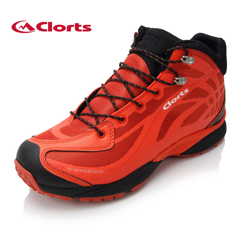 Clorts Men Women Mountain Boots Mesh Genuine Leather Waterproof Hiking Shoes Breathable Climbing Boots for Outdoor 3B026 недорго, оригинальная цена