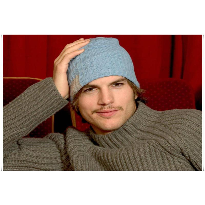 2017 New arrival Ashton Kutcher Canvas Fabric Cloth Poster Custom Print Silk Fabric Home Decor Poster For Your Living Room