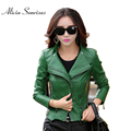 Plus Size Leather Jacket Women PU Leather Suede 6 Colors M- 4XL 5XL Women's Short Motorcycle Biker Jacket Coat KF957