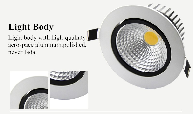 Dimmable 5W 7w 9w 12w LED COB Recessed Downlight LED Empotrables Ceiling Light Spot Light Lamp Home Indoor Lighting