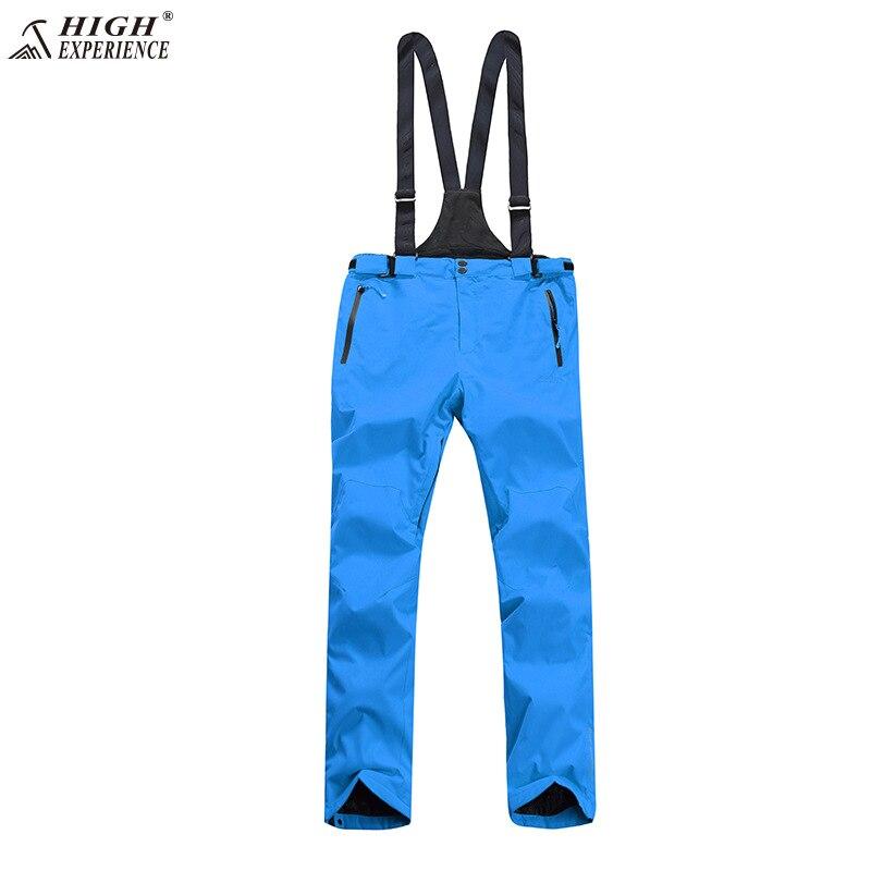 2018 NOUVELLE Haute Expérience Hiver Orange Pantalon de Ski de Neige Snowboard Pantalon Hommes Bretelles Salopette pantalon de Ski livraison gratuite
