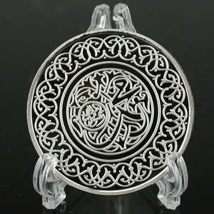 Image 3 - Sliver Coin Cópia Caligrafia Islâmica Profeta Muhammad Islam Religiosa Moedas Comemorativas de Metal Artesanato Dia 40MM