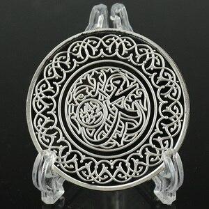 Image 3 - ศาสนาอิสลามเวลา Sliver เหรียญคัดลอกการประดิษฐ์ตัวอักษรอิสลามศาสดามูฮัมหมัดทางศาสนาที่ระลึกเหรียญโลหะหัตถกรรม Dia 40 มม.