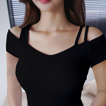 Sexy Women Dance Shirt Tops Ballroom Modern Salsa Tango Samba Latin Training Shirts Sling Female Adult Dancewear Tops Black 1