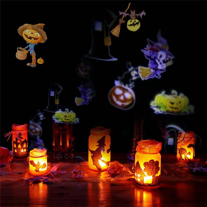 8W 12W LED Projector Landscape Lighting White Lawn Light Landscape Lamp with 12/20pcs Colorful Gobo for Holiday Christmas Decor