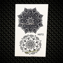 Indian Sunflower Totem Water Transfer Temporary Tattoo Henna Flower Tattoo Paste GH072 Fake Flash Black Tattoo Jewelry Sticker