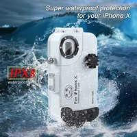 195FT/60M For iPhone X/XS Diving Case Cover Professional Surfing Swimming Snorkeling Photo Video Waterproof Underwater Case